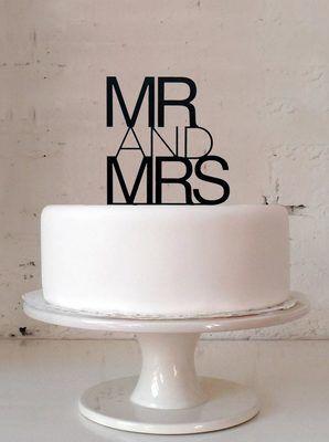 Contemporary Wedding Cake Topper - via DTLL.