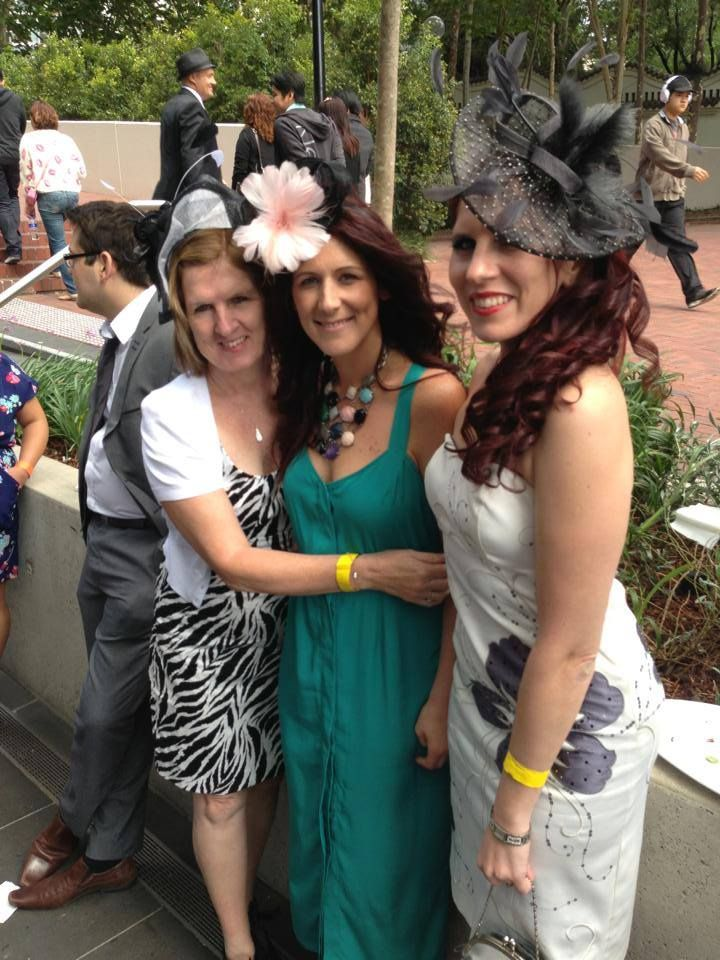 Wearing fascinatorsby Julie all fascinators can be found on the website in the Onyx, Diamond and Silver collections.