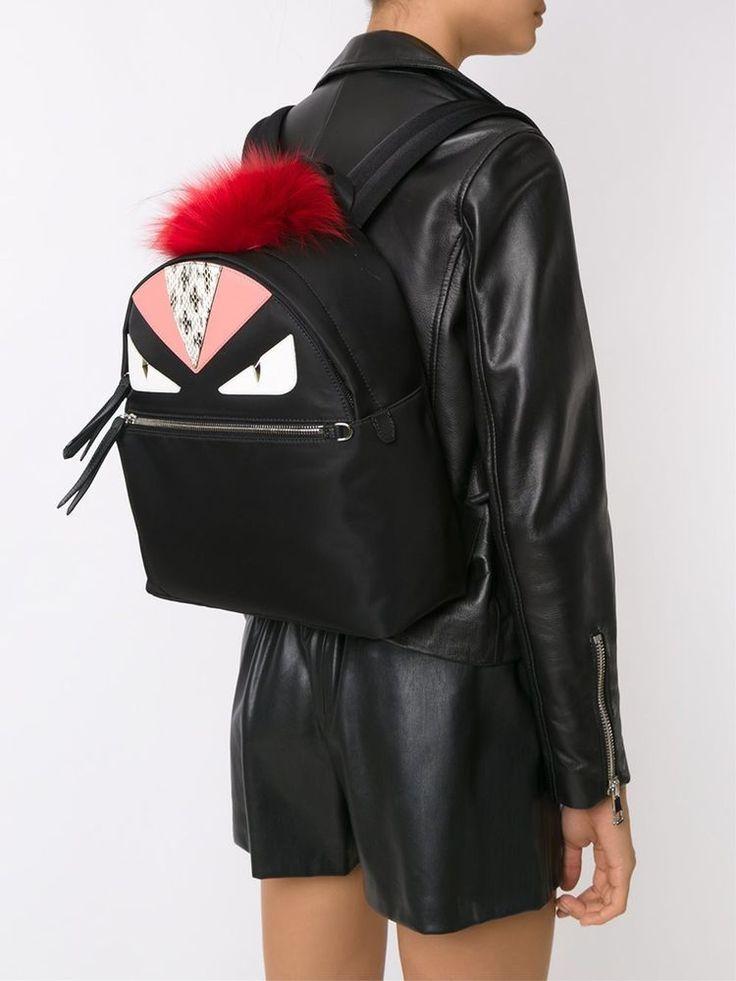 FW17 FENDI BAG BUGS BACKPACK BLACK SNAKE COLOUR BLOCK INLAYS 8BZ035-7ZP-3B0 #FENDIbagbugs #BackpackStyle
