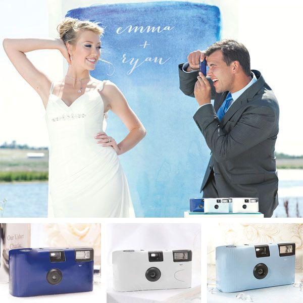 Blue Wedding Disposable Cameras