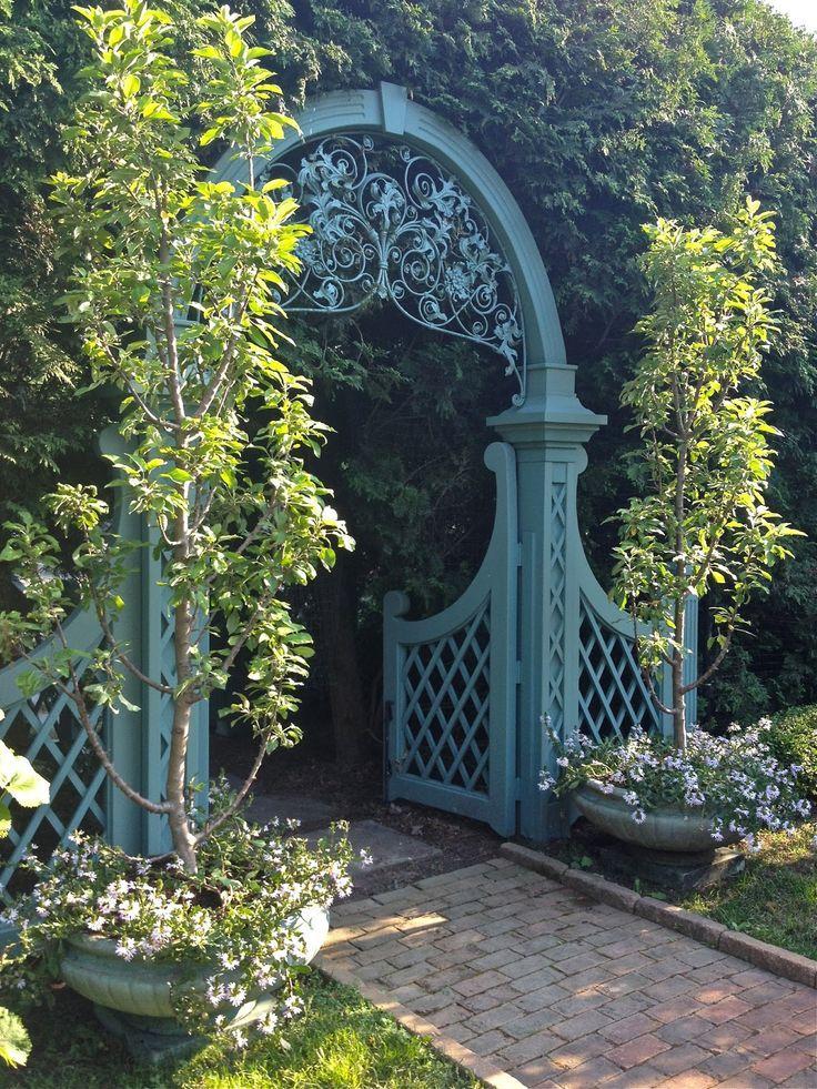 Vintage Wrought Iron Fence