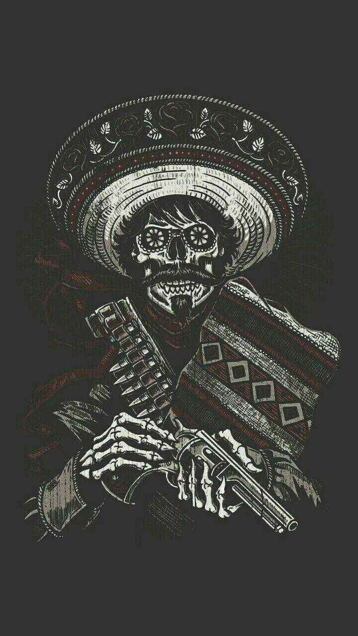 Iphone X Wallpaper Notitle 558657528774174060 Skull Art Art Aztec Art