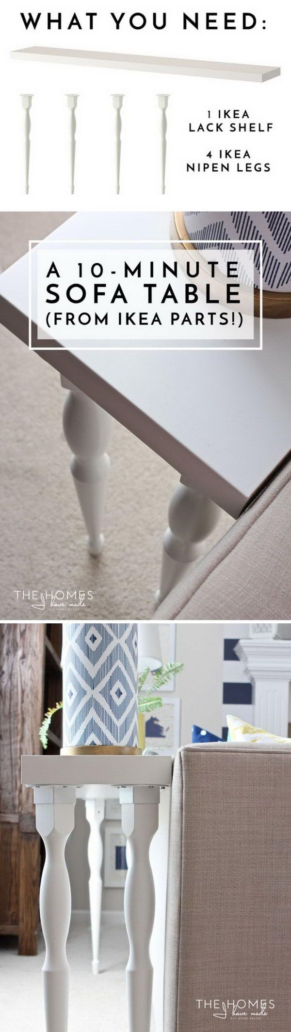 How to make a sofa table from 1 x 6 lumber - 20 Easy Diy Console Table And Sofa Table Ideas