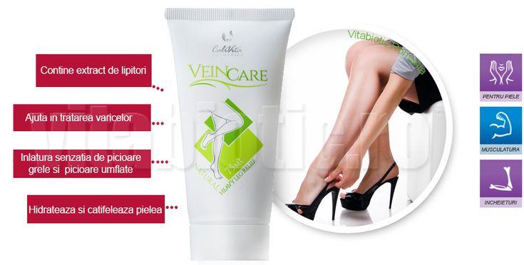 Crema Vein Care pentru varice cu extract de lipitori excelenta pentru probleme cu picioarele umflate sau sindrom de picioare grele. Contine hirudina din saliva de lipitori