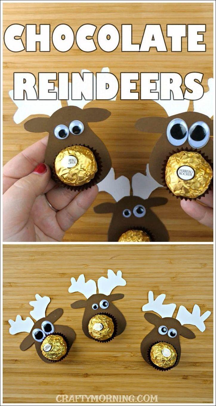 Machen Sie diese niedlichen Schokoladen Rentier Leckereien für ein