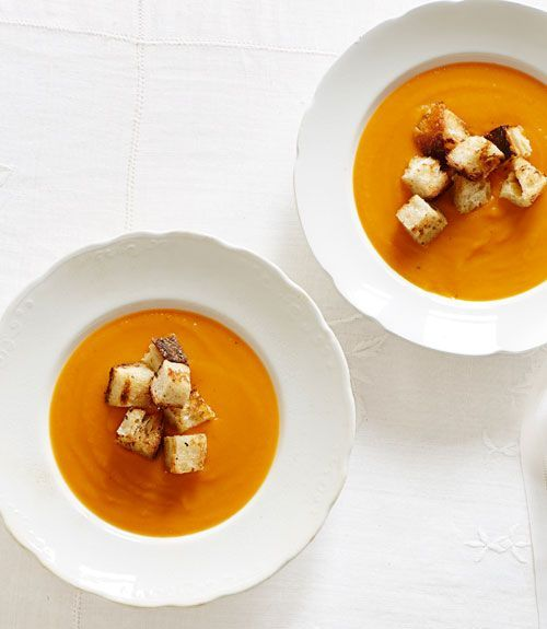 Winter squash soup-This winter squash soup is a great Thanksgiving starter, but would be just as good for a simple fall dinner on a chilly weeknight.