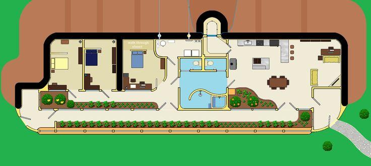 earth ship style building plans | Earthship Ottawa                                                                                                                                                                                 More