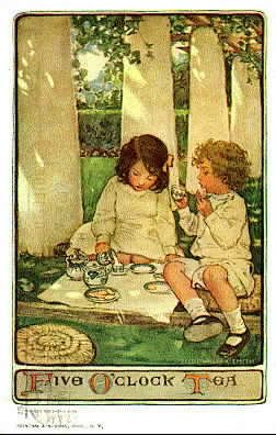 Jessie Wilcox Smith (1863-1935), an illustrator who studied with Howard Pyle and specialized in images of children. I think her work is magical, almost dream-like, pretty and sentimental to be sure, but much deeper than that.