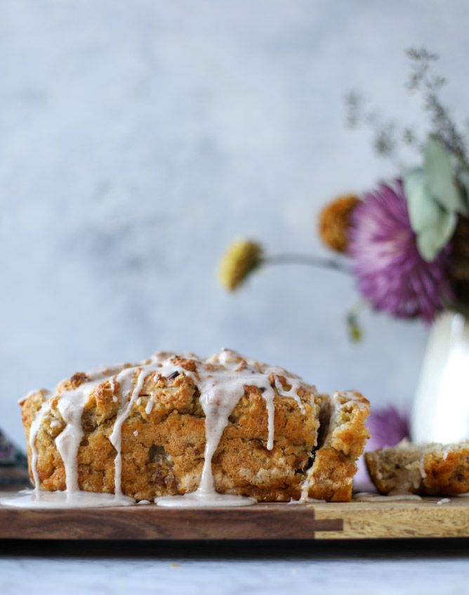 banana beer bread with brown butter glaze I howsweeteats.com #bread #banana