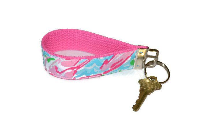 Lilly Pulitzer Keychain Wristlet by xoribbons on Etsy, $8.00