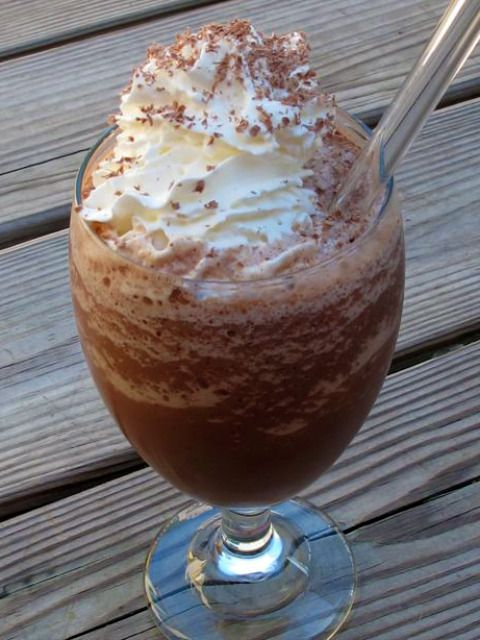 Frozen hot chocolate: -I made this for a Christmas themed date night -I added a whole pack of hot cocoa.  I wasn't ever able to get a smooth consistency because of this, but once it was all blended together, it didn't matter -I put whole chocolate chips into the blender which created little pieces of chocolate throughout the drink...a great decision! -Serve right away or put it in the freezer -AMAZING!