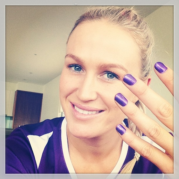 Chelsea Pitman's Game Day nails #nailart