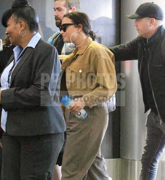 Demi Lovato Sighted at LAX Airport in Los Angeles on January 22 2018