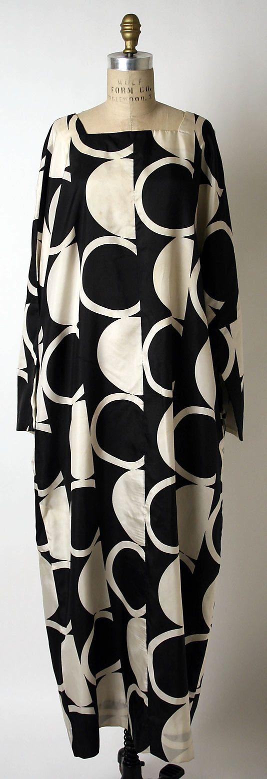 Evening dress, Rudi Gernreich  (American, born Austria, 1922–1985)   Date: 1965–67 Culture: American Medium: silk