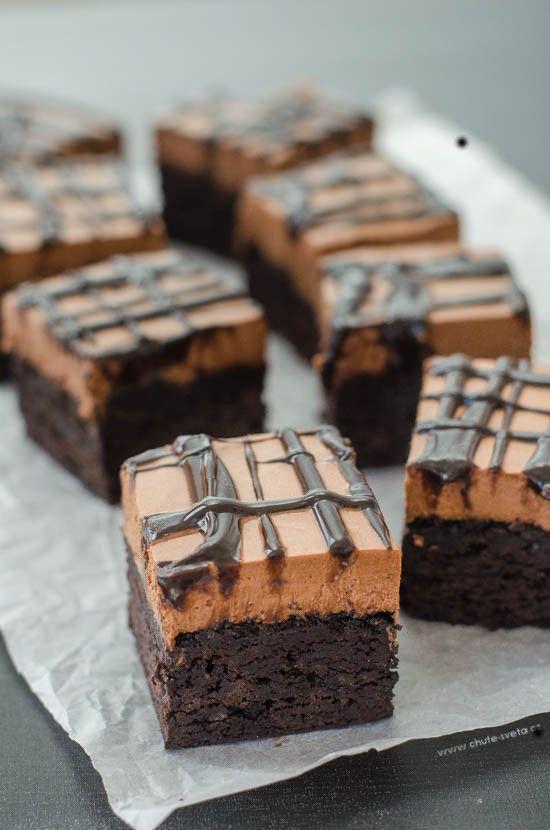 brownies s čokoládovou pěnou