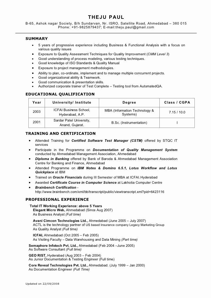 Business Analyst Resume Indeed Awesome Sample Cv For Junior Business Analyst In 2020 Business Analyst Resume Business Analyst Job Resume Examples