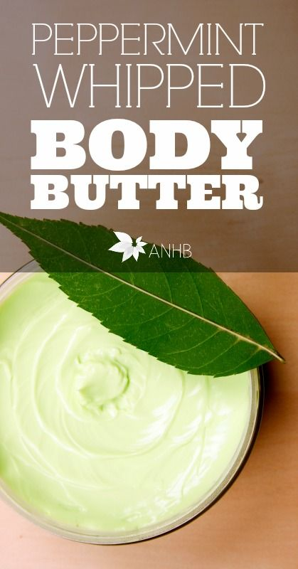 This peppermint whipped body butter is so amazing! You have to try it.