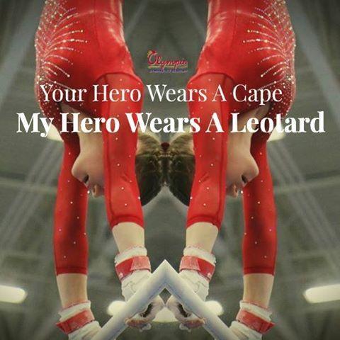Hero Leotard Olympia Gymnastics Quote