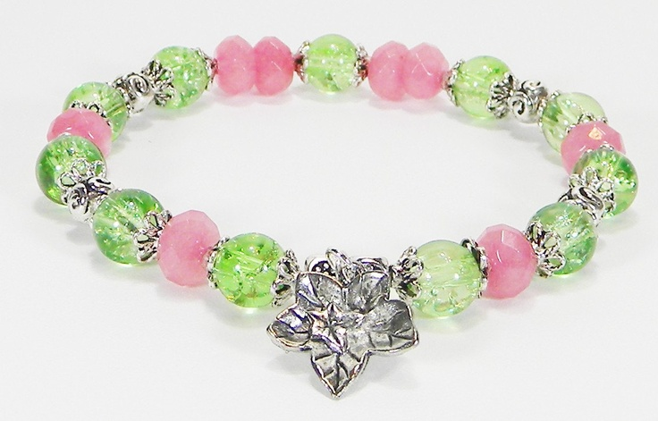 Alpha Kappa Alpha AKA Sorority Ivy Stretch Bracelet plus FREE Gift. $14.88, via Etsy.