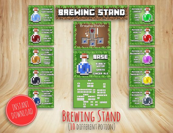 Classroom Decoration ~ Brewing stand printable birthday party station