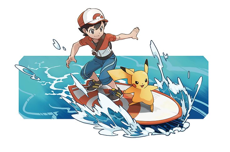 Surf's up, Trainers! Pokémon: Let's Go, Pikachu! and Pokémon: Let's Go, Eevee! are available now. Pokemon Fan Art, Ash Pokemon, Pokemon Comics, Pokemon Games, Cute Pokemon, Pokemon Stuff, Pikachu Pikachu, Pokemon Official, Pokemon Pocket