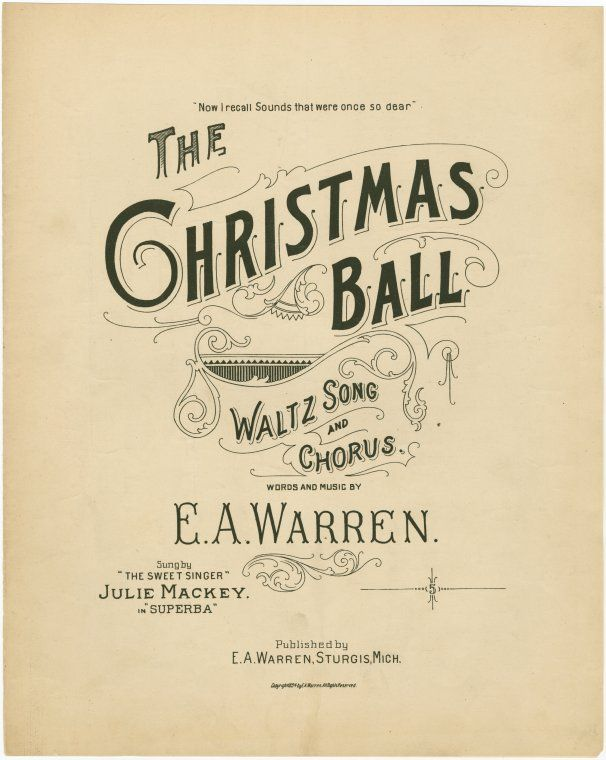 """""""The Christmas Ball"""" ~ I could see this used on a chalkboard art project!"""