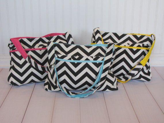 SaleCutest Chevron Diaper Bags in Blue Yellow by Appleberryblue, $29.99