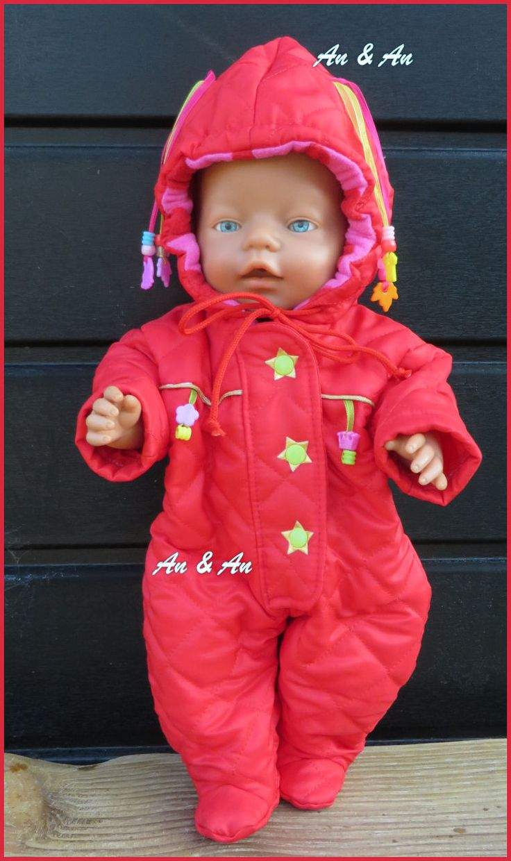 Rood skipak voor Baby Born. www.poppenmode.com