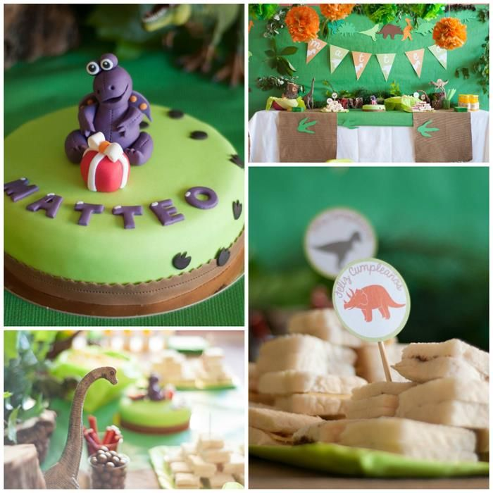 Dinosaur Themed 2nd Birthday Party with Lots of Cute Ideas via Kara's Party Ideas | KarasPartyIdeas.com #Dinosaur #PartyIdeas #PartySupplies