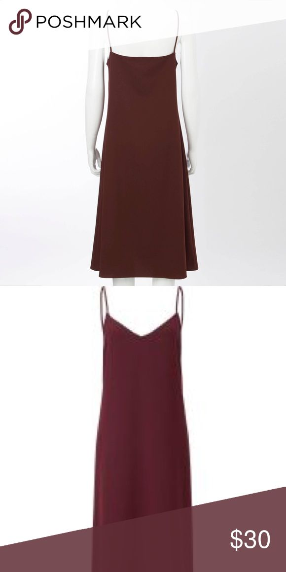 CAMISOLE DRESS Camisole maxi dress / wine color / uniqlo / NEVER WORN *brand new * Uniqlo Dresses Maxi