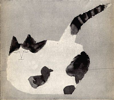 Marvelous cat by Saul Steinberg. Nearly spherical.