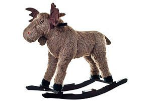 Max the Rocking Moose for a rustic kids room