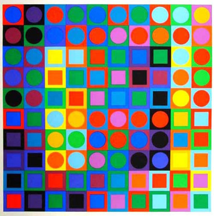 Shape - art of Victor Vasarely color, pattern, unity, paint