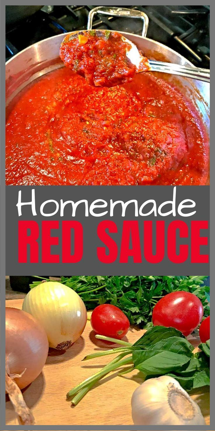 Homemade Red Sauce In Less Then 40 Minutes Recipe Red Sauce Pasta Recipes Autumn Pasta Recipes