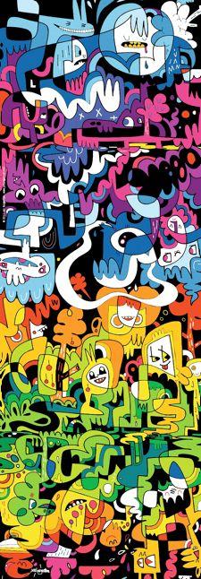 Doodle World - 1000 Pieces - Jon Burgerman