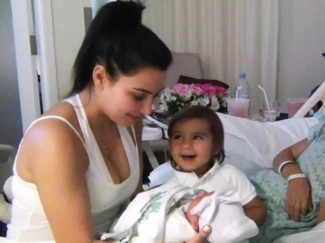 Kim Kardashian and Mason Disick and Baby Penelope