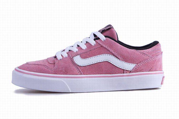 Vans TNT Low Top Pink White Womens Shoes #Vans