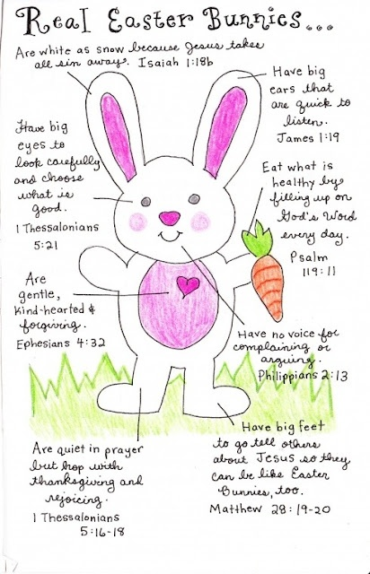 Love this! Real Easter Bunnies with scriptures included!
