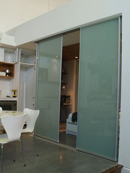 Riviera Room Dividers - another option is to go with clear glass for a very modern, clean look