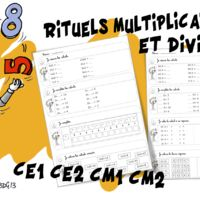 Rituels maths : multiplications et divisions