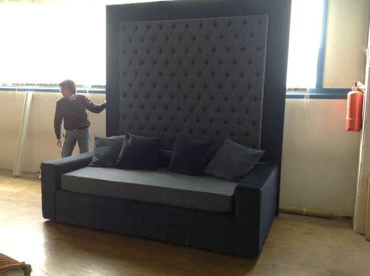 Pannello retro divano con lavorazione capitonne