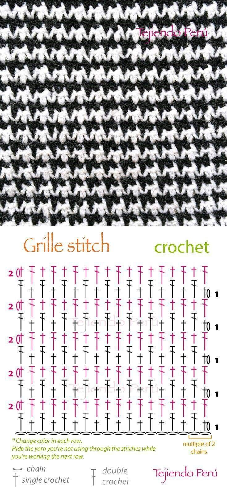 203 best 스티치 images on Pinterest | Crochet stitches, Knits and ...