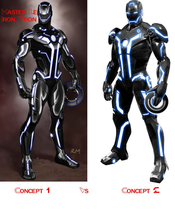 ok i made these custom iron man themed tron suits please vote for the one you would like to see me create iron tron concept vote off