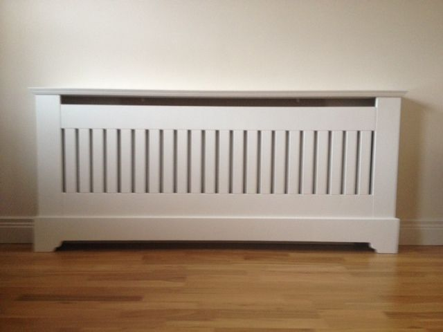 A contemporary radiator cover, designed to aid maximum heat output