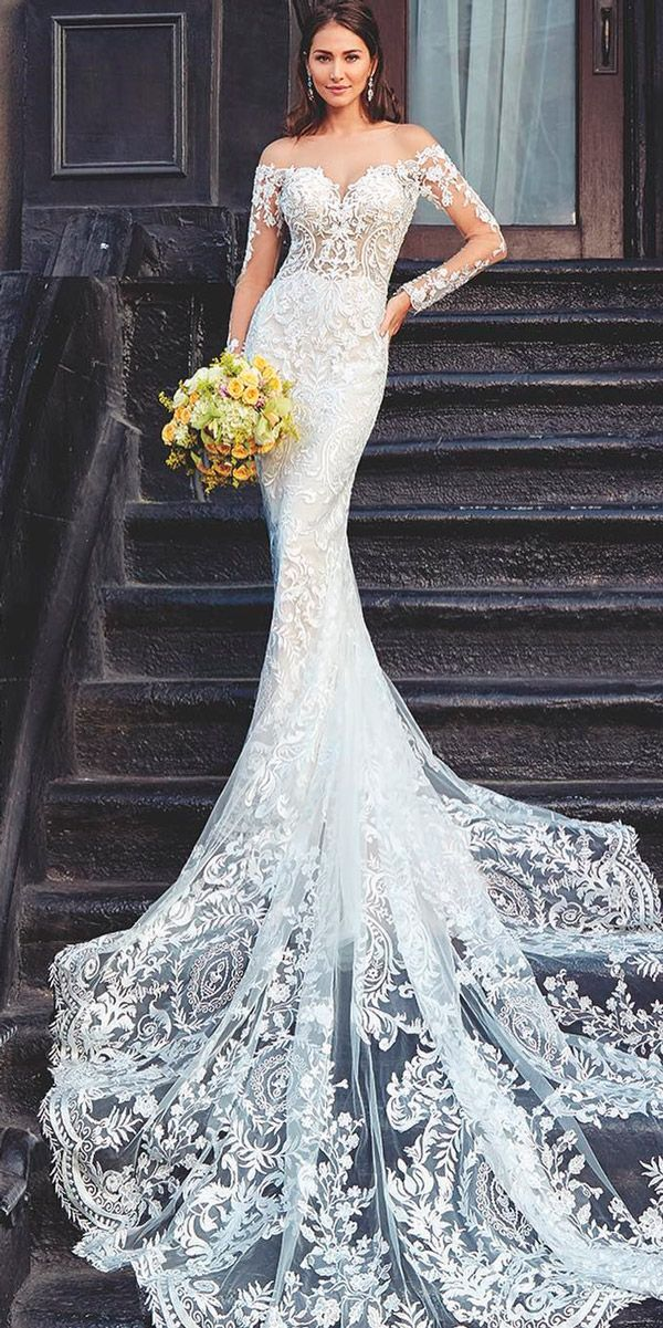 30 Beautiful Wedding Dresses By Top Usa Designers Beautiful Wedding Dresses Romantic Bridesmaid Dresses Bridal Dresses