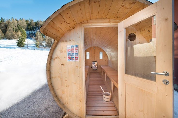 Sauna a botte con stufa elettrica