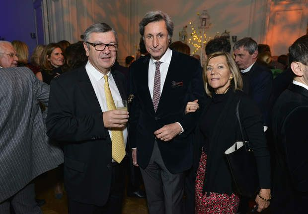 Philippe Savinel et Patrick de Carolis et sa femme