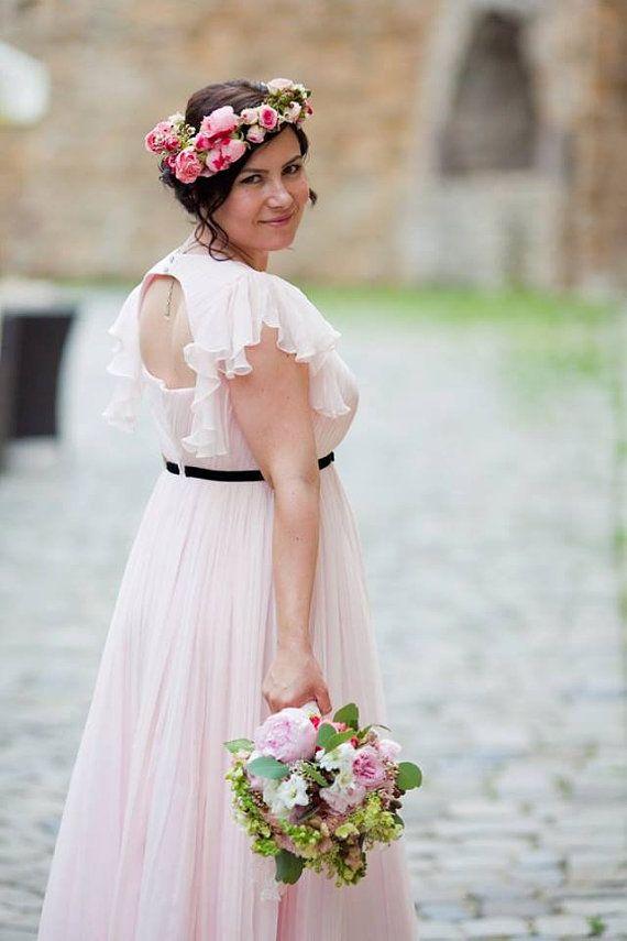 Plus size wedding dress - silk wedding dress - wedding gown - boho wedding dress - bohemian wedding dress/maternity wedding dress