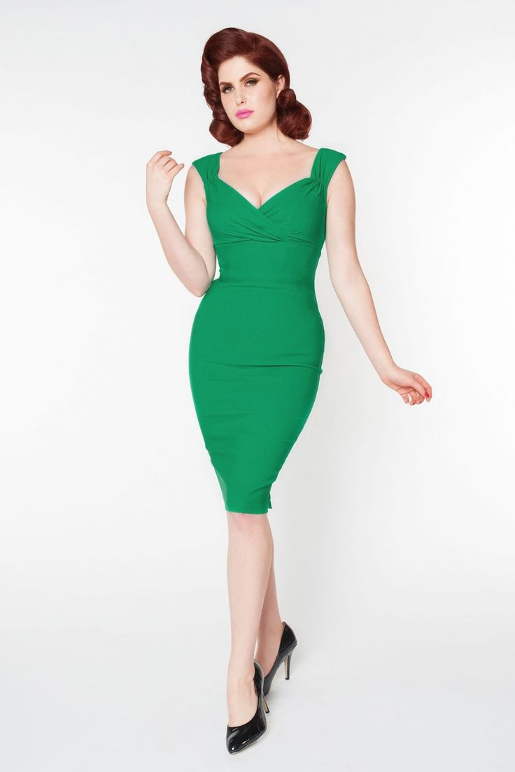 Pinup Couture - 50s Erin Dress in Lucky Green