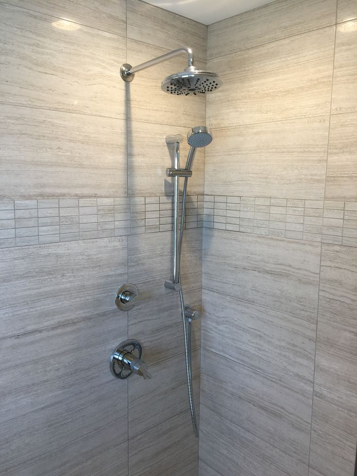 This is a shower we installed with an over head shower and slide bar